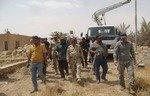 إزالة ألغام داعش من جزيرة الخالدية في العراق