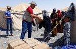 Les forces irakiennes filtrent les familles de Daech dans un  camp près de Mossoul