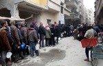 أهالي الغوطة الشرقية المحاصرة يعانون من نقص في الإمدادات