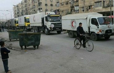 Aid reaches Douma as activists call for siege to end