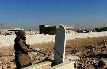 ISIS razes gravestones in rural Idlib, Hama