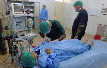 بازگشایی بیمارستان دیالی در پی تعمیراتی که پس از بیرون رفتن داعش صورت گرفت