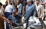 مساعدة المعوقين من أهالي الأنبار الذين تضرروا من قبل داعش