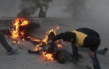 عمليات الإغاثة مهددة مع دك النظام للغوطة الشرقية