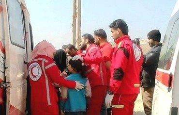 بدء إجلاء الجرحى والمرضى من الغوطة الشرقية