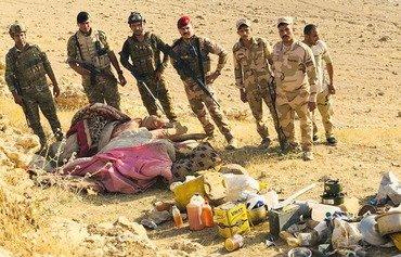 نیروهای عراقی گروهک های داعش را در سلسله جبال عطشانه هدف قرار دادند