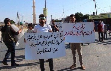 تظاهرات بريف إدلب ضد هيئة تحرير الشام