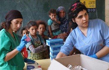 هێزەکانی سوریای دیموکرات خزمەتگوزاری تەندروستی بۆ مەدەنیەکانی هەجین دابیندەکەن
