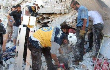 Hejmara kuştiyên teqîna bajarê Sermedaya Sûrîyayê bilind dibe
