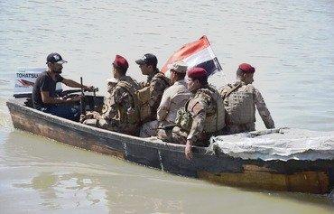 محاصرة فلول داعش في حوض نهر دجلة