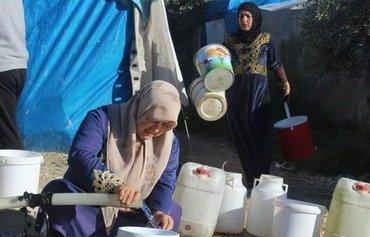 مخيمات النزوح في إدلب تواجه أزمة إنسانية