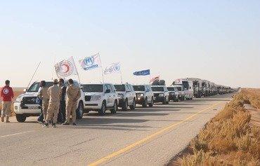 وصول أغذية وأدوية إلى مخيم الركبان السوري