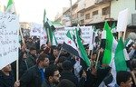 Angry protesters confront Tahrir al-Sham in rural Idlib