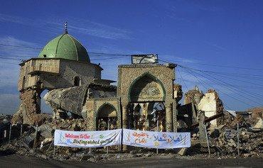 العراق يضع حجر الأساس لإعادة بناء مسجد الموصل التاريخي
