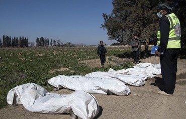 Des têtes coupées découvertes dans un charnier près d'une poche de l'EIIS en Syrie