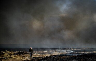 Syria Kurds alarmed as fire ravages wheat near oil installations