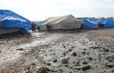 Heavy rain brings woes to Syria's Ain Issa camp