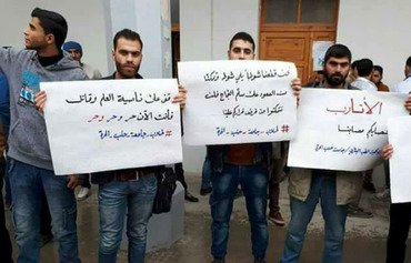 Idlib students protest against Tahrir al-Sham