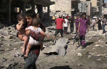 Syrian rights group slams Russia for civilian deaths