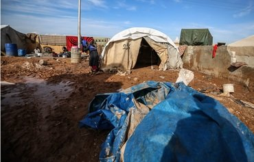 Heavy rain worsens conditions at IDP camps in rural Idlib