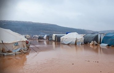 Rains, flooding inundate northern Syria camps
