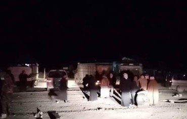 Dozens of families released from al-Hol camp
