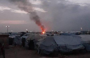 Extremists set tents on fire in Syria's al-Hol camp