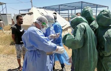 العراق: تسجيل أول حالة إصابة بفيروس كورونا في مخيمات النازحين
