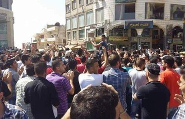 Sweida residents protest against Syrian regime