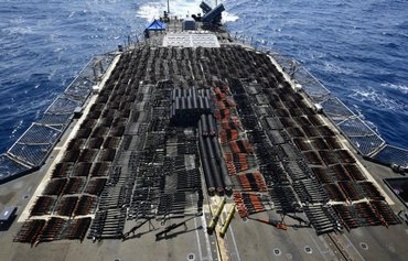 US Navy seizes huge cache of Russian, Chinese weapons bound for Houthis